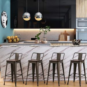 30 Inch Metal Bar Stools Counter Stool Modern Barstools Industrial Bar Stools Set of 4 (30 inch, Rusty) for Sale in Jersey City, NJ