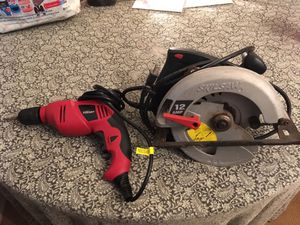 12 amp skilsaw and hyper touch power drill for Sale in North Myrtle Beach, SC