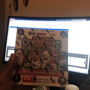 2020 Panini Contenders NFL Factory Sealed 10-Pack Mega Box - Fanatics Exclusive for Sale in Houston, TX