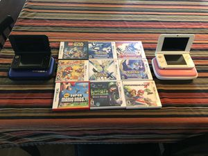 2 Nintendo 3DS XL, Blue & Pink plus 9 games for Sale in Chula Vista, CA