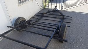 Dual deck 12 ft long trailer with electric brakes for Sale in Escondido, CA