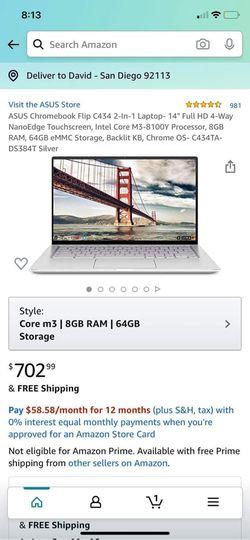 ASUS Chromebook Laptop for Sale in Coronado,  CA