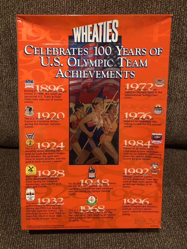 Wheaties 1996 Collector's Edition (Empty) Celebrates 100 Years of U.S. Olympic Team Achievements