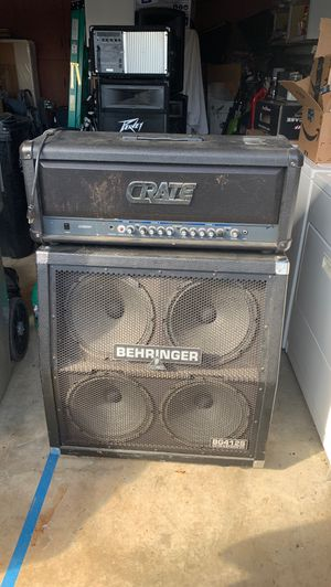 Guitar Half-stack Amp: Crate Head and Behringer cab for Sale in San Jose, CA