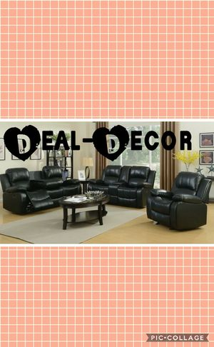 Reclining Leather 3 Piece Sofa Set for Sale in Marietta, GA