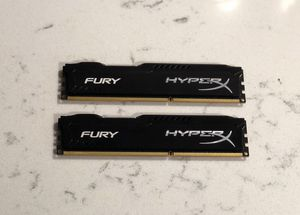 Kingston Hyper x fury ddr3 Ram 8GB pack for Sale in Marvin, NC