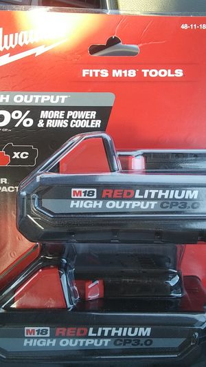Milwaukee M18 CP 3.0 2 pack batteries for Sale in Phoenix, AZ