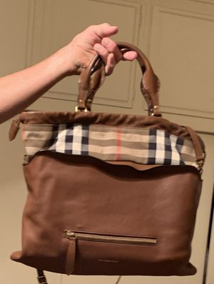 Authentic Burberry Leather Bag for Sale in Norco, CA
