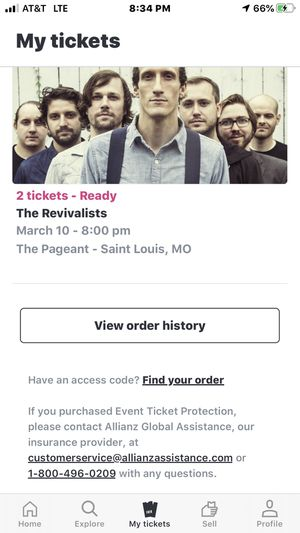 Revivalists tickets for Sale in St. Louis, IL