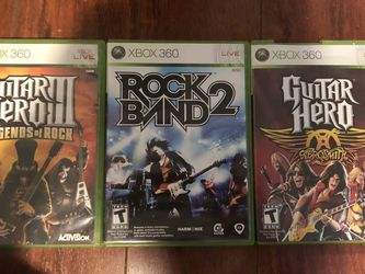 Guitar Hero And Rock Band Xbox 360 Games (All For $15) for Sale in Rowland Heights,  CA