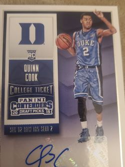 2015-16 Panini Contenders Quinn Cook RC Duke Warriors #134 Auto NBA Champs for Sale in Ocean Shores,  WA