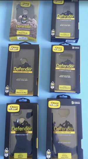 Otterbox Defender case for IPhone 5 / 6 / 7 / 8 / plus + / X / XR / Xs Max & Samsung Galaxy S7 / S8 / S9 / 10 / Edge / Plus + / Note 5 / 8 / 9 / for Sale in Temple City, CA