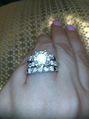 4 carat certified diamond engagement ring set new for Sale in Atlanta, GA