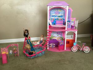 Barbie Beach House with pool, bicycle & swing set for Sale in Tavares, FL