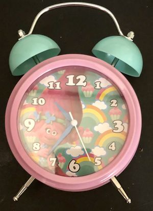 Trolls Double Bell light Up Musical Alarm Clock Coin Bank for Sale in Boca Raton, FL