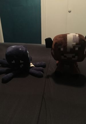 Minecraft Squid and Cow Plushie for Sale in Reedley, CA