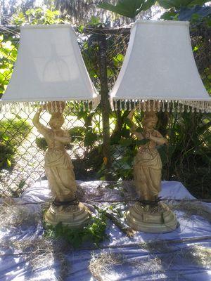 "31 "" tall Vintage heavy Italian ladies pamela lamps for Sale in Union Park, FL"