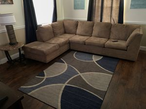 Sectional couch and rug for Sale in Winter Haven, FL