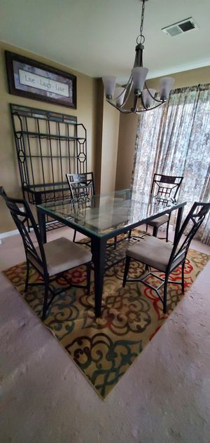 Baker's wine rack, table, chairs (wine glasses included) for Sale in Woodbridge, VA
