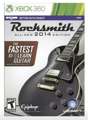 Rocksmith 2014 Edition XBOX 360 Game Learn Real Guitar No Cable Included for Sale in Miami, FL