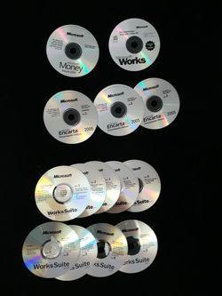 Microsoft Works Suite Money Encarta Windows 98 XP Printer Educational for Sale in Falls Church,  VA