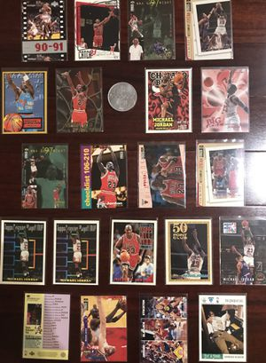 Michael Jordan Basketball 21-Card Lot!!! +MJ Upper Deck Collectors Coin!!! for Sale in Clermont, FL