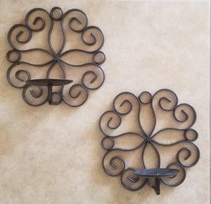 2 candle wall sconces 8 inch diameter for Sale in Chula Vista, CA