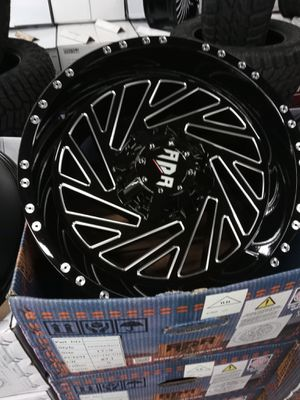 "17"" inches wheels and tires 5x127/5x139.7 for jeep Wrangler and Chevy 5lug truck rims and tires on sale for Sale in Lakewood, WA"