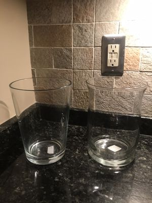 Two Glass Vase & Candle Holder for Sale in Silver Spring, MD