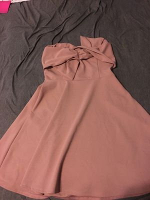 "Mauve strapless flare dress with ""bow"" front for Sale in Philadelphia, PA"