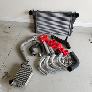 Intercooler for vw audi + tubes connectors parts. for Sale in St. Augustine, FL