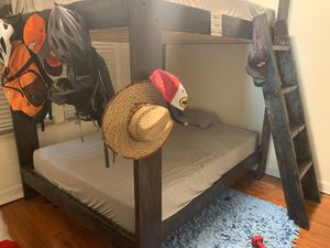 Best offer Sturdy Full size bunk bed custom built or for Sale in Fort Lauderdale, FL