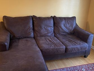 Brown Microfiber Faux-Suede Sectional for Sale in Orlando,  FL