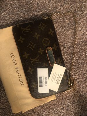 Authentic with card stamp Louis Vuitton clutch with dustbag new!!! for Sale in Saint Petersburg, FL