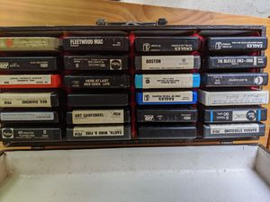 8 Track Tapes with case for Sale in Backus, MN