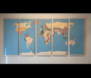 World map 5 pc for Sale in Los Angeles, CA
