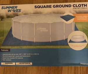 Summer Waves Square Ground Cloth for 15 Ft Pools for Sale in Andover, MA