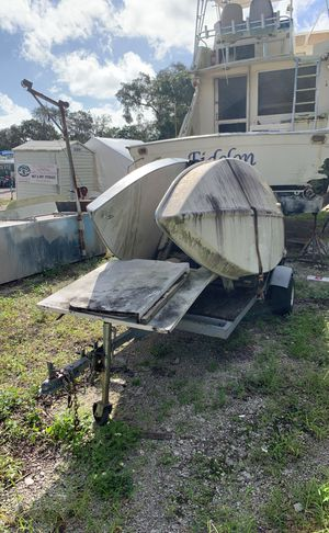Two small sunfish sailing vessels on trailer for Sale in Hollywood, FL
