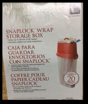 Wrapping paper storage container- CHECKOUT ALL MY OTHER ITEMS TOO for Sale in VLG WELLINGTN, FL