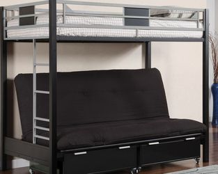 Twin Over Futon Bunkbed for Sale in Aurora,  CO