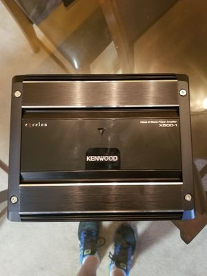 Kenwood Excelon X500-1 Mono subwoofer amplifier — 500 watts RMS x 1 at 2 ohms for Sale in Littleton, CO