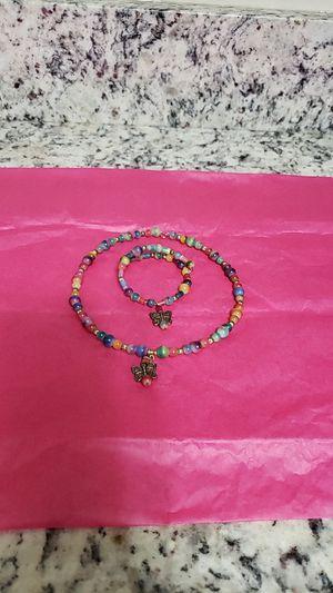 Butterfly necklace and bracelet for Sale in Manassas Park, VA