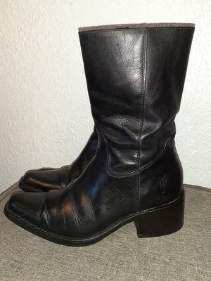 Women's Frye Black Leather Boots sz7 (77040) for Sale in El Paso, TX