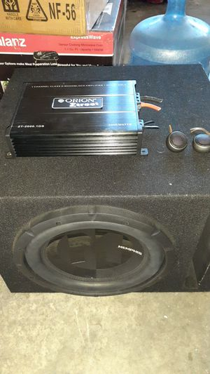 "Size 12"" Subwoofer 2k Watt Orion Amp/Kenwwod Voice tweeters. for Sale in Moreno Valley, CA"
