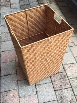 Cane Material Laundry 🧺 Basket Only $12 for Sale in Hollywood,  FL