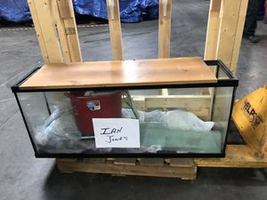 55 Gallon Fish Tank with Custom Stand for Sale in Glen Burnie, MD