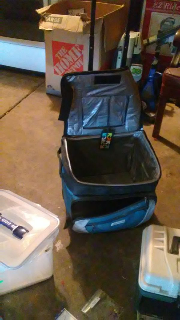 Fishing gear and box with traveling cooler bag