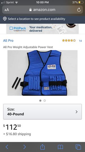 All pro weight vest for Sale in Bellevue, WA