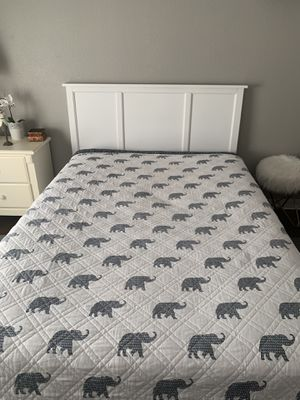 Full mattress, box spring and headboard. for Sale in Temecula, CA