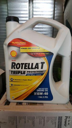 Shell Rotella T 15W-40 Heavy Duty Diesel Oil, 1 Gallon for Sale in San Lorenzo, CA